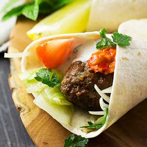 mixed-kofta-wrap